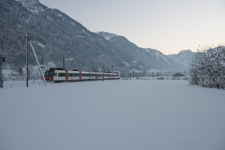 Winter, Train, Railway, Snow, Seemed, Switzerland