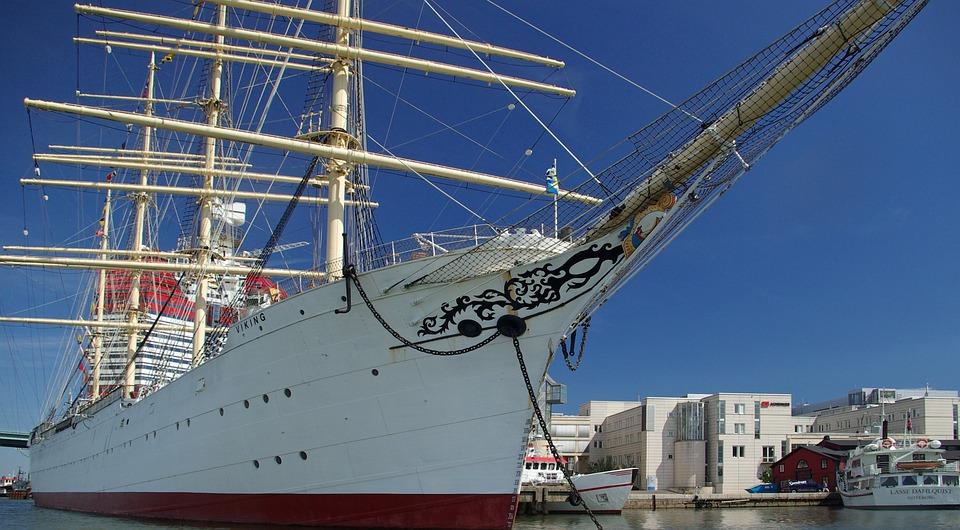 Segelschiff, Port, Four Master, Göteborg, Segeln
