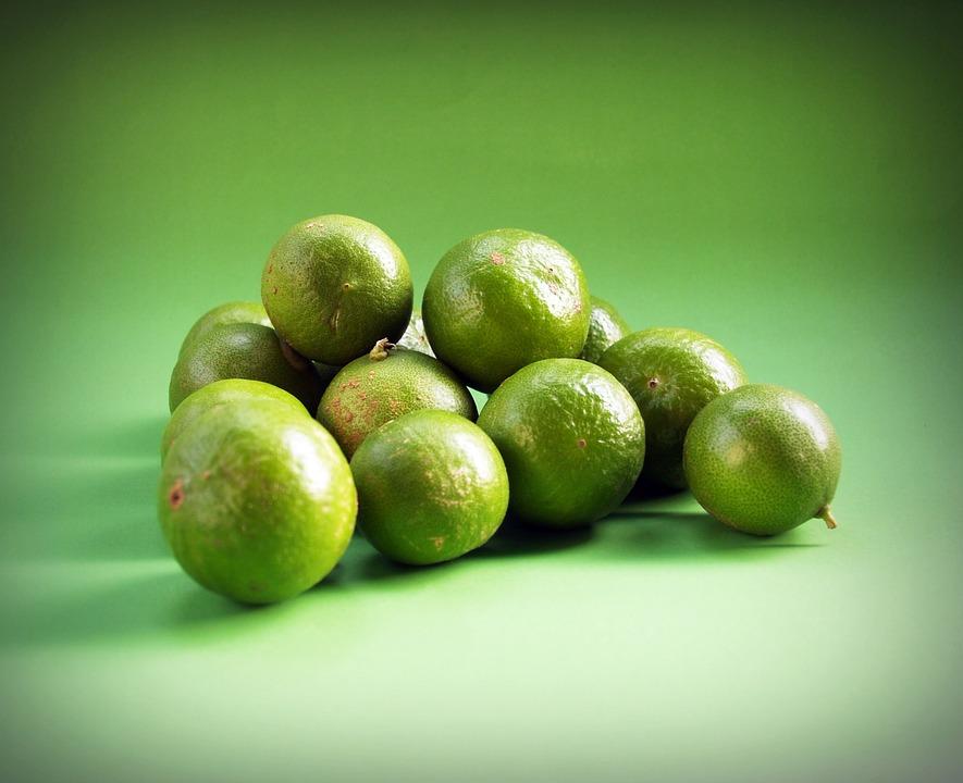 Lime, Green, Lemon, Slice, Round, Segments, Fruit