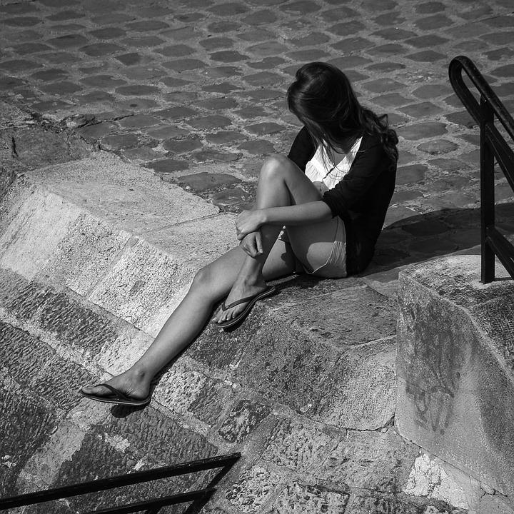 Seine, Girl, Paris, Relax