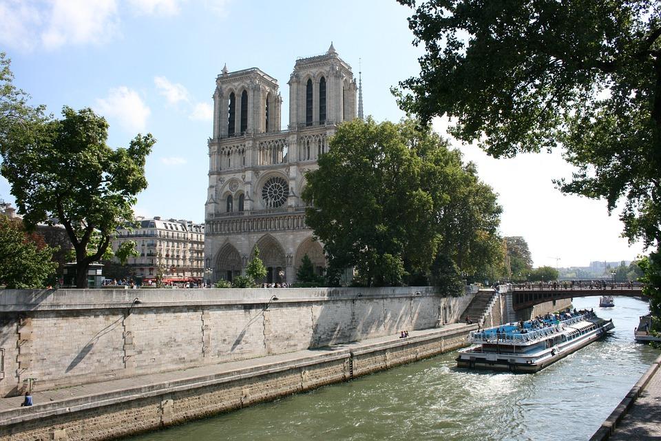 Notre Dame, Paris, Seine River, Boat