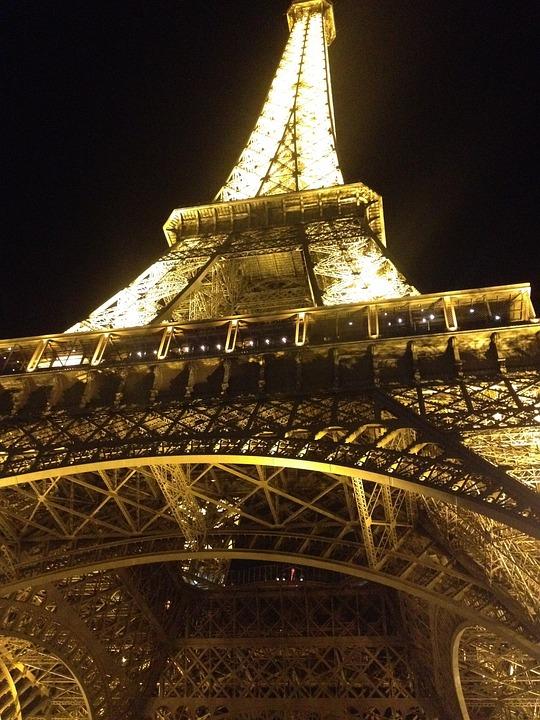 Night, Eiffel Tower, Lights, Seine, Symbol