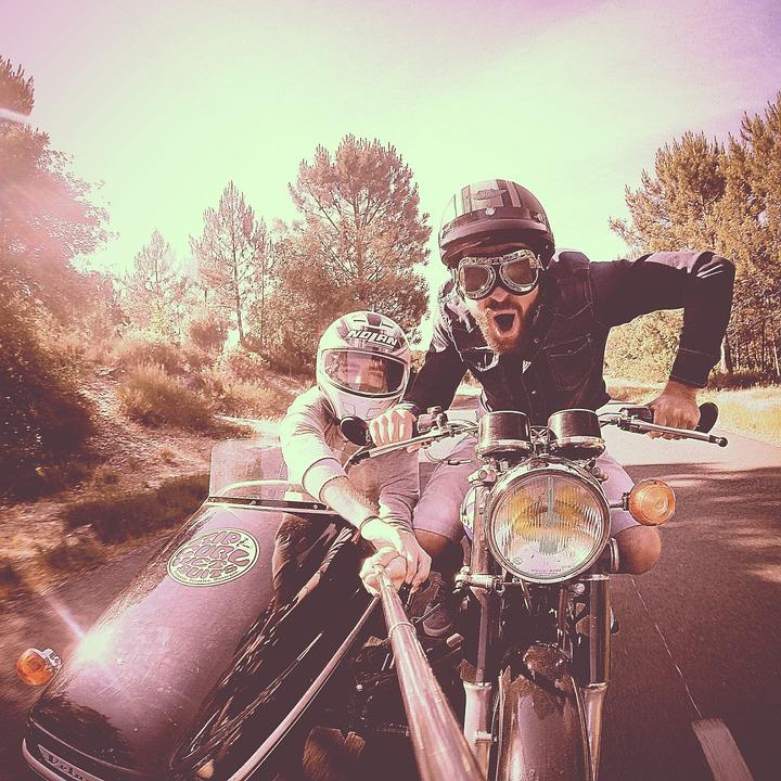 Retro, Vintage, Motorcycle, Ridespeed, Fun, Selfie