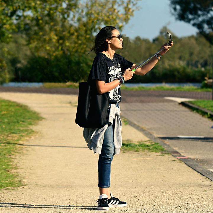 Woman, Person, Selfie, Selfie Stick, Photograph
