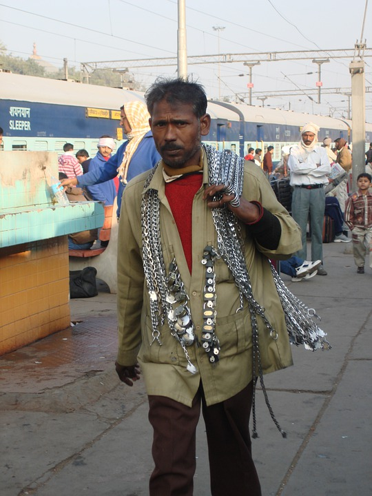 Street, Seller, Street Vendor, Railway Station, Sale