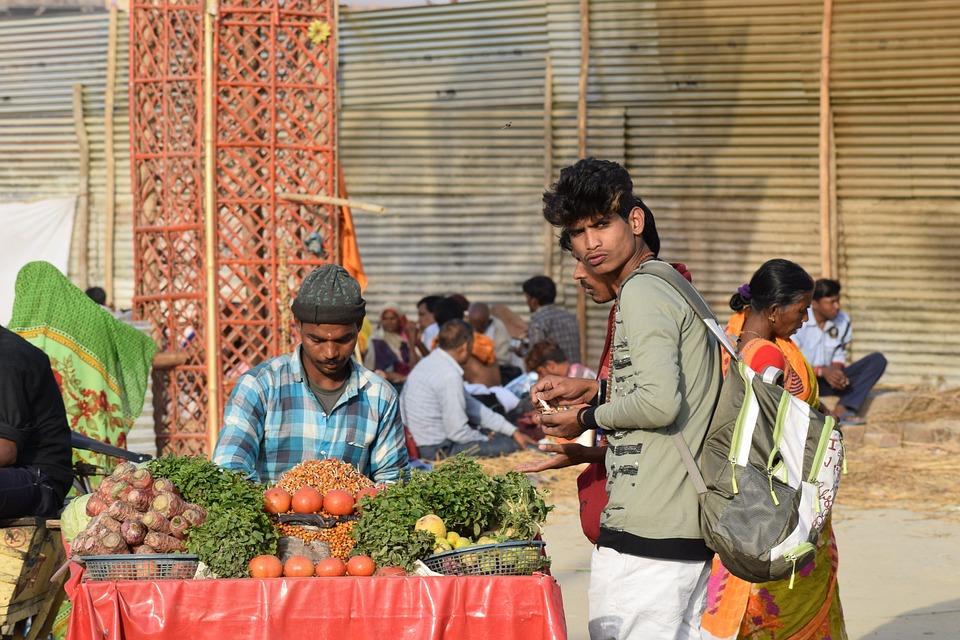 Food, Vendor, Market, Sell, Selling, India, Fresh