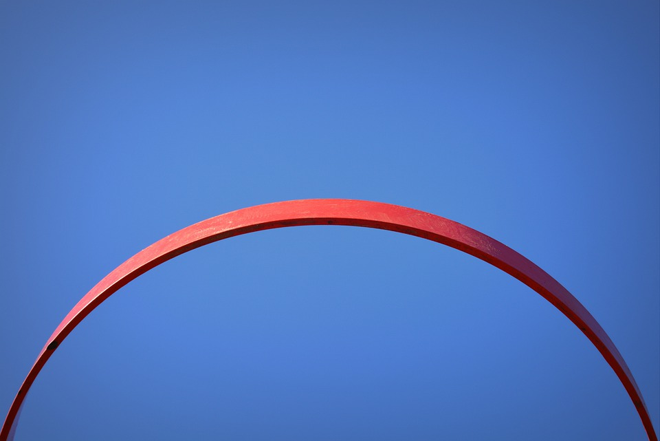Air, Blue, Basketball Hoop, Red, Semicircle
