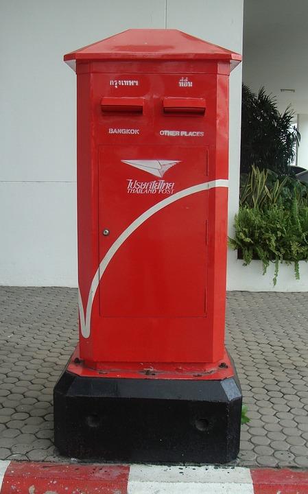 Letter Box, Mail Box, Mailbox, Postal, Red, Send