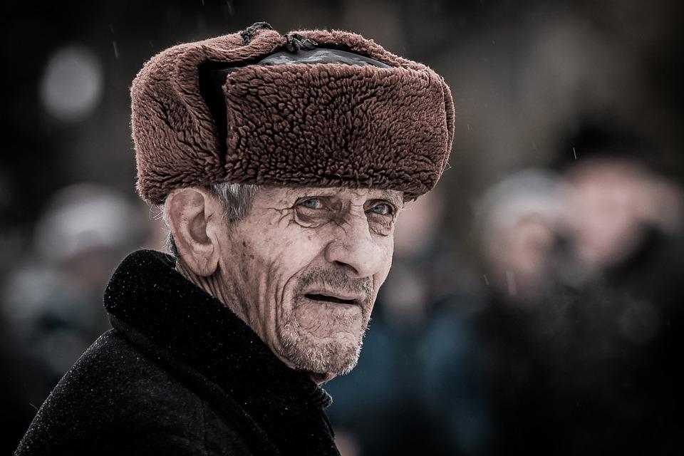 Old Man, Ushanka, Russian, Man, Elderly, Senior, Aged