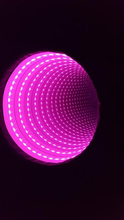 Infinity Tunnel, Led, Pink, Light, Sensory, Technology