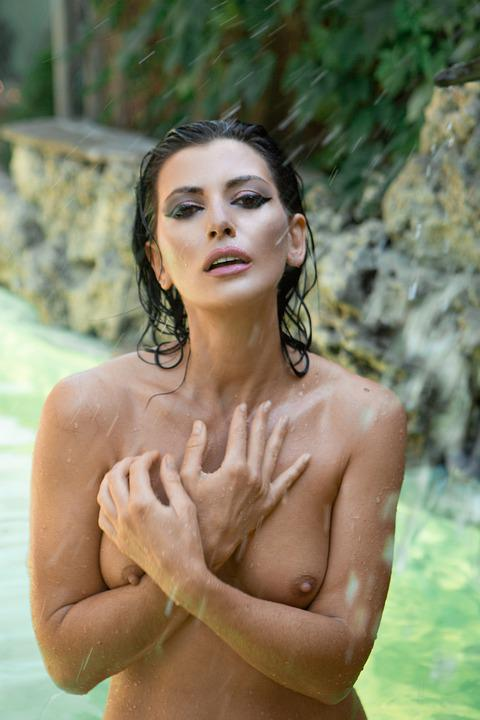 Model, Nude, Wet, Bathing, Naked, Sensual, Body, Breast
