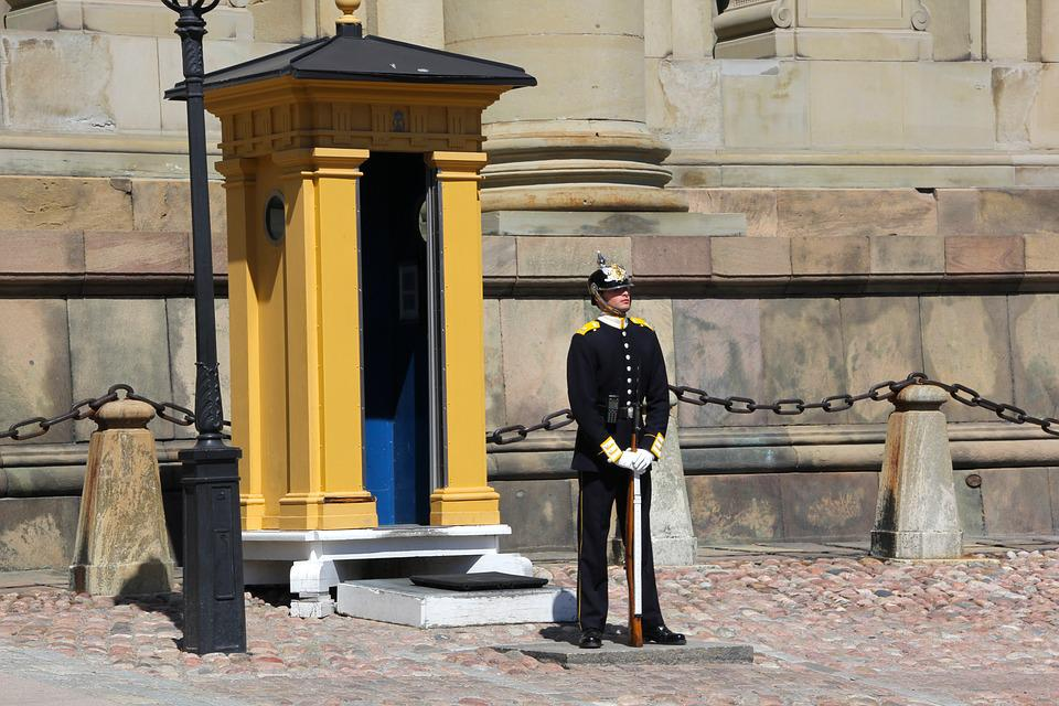 Sentry, Stockholm, Royal Palace