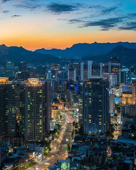 Myeongdong, Seoul, South Korea, Namsan Tower, Korean