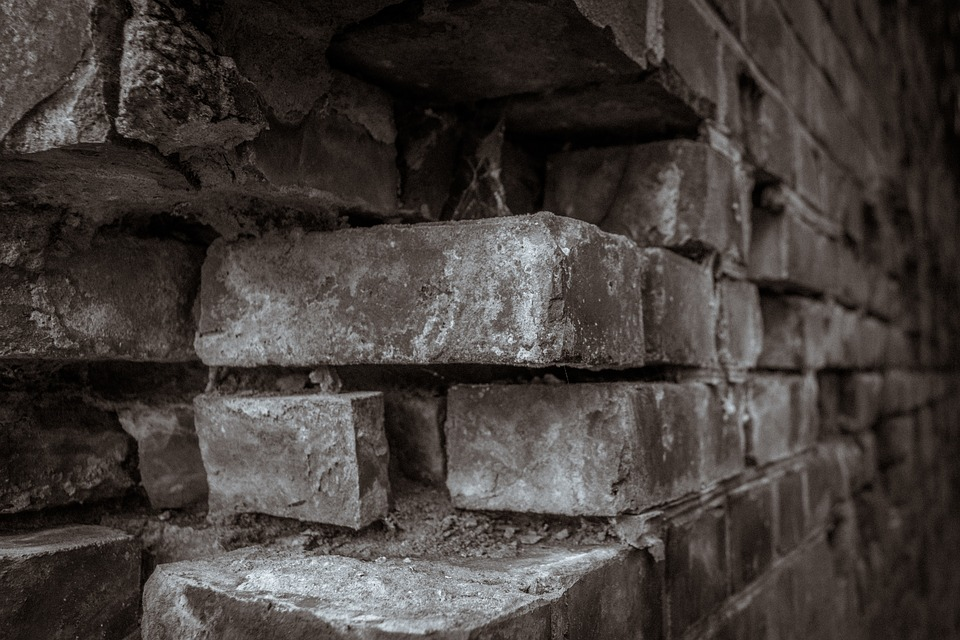 Wall, Stone, Masonry, Brick, Trist, Sepia, Antique