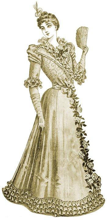 Vintage, Lady, Sepia, Fashion, Victorian, Portrait