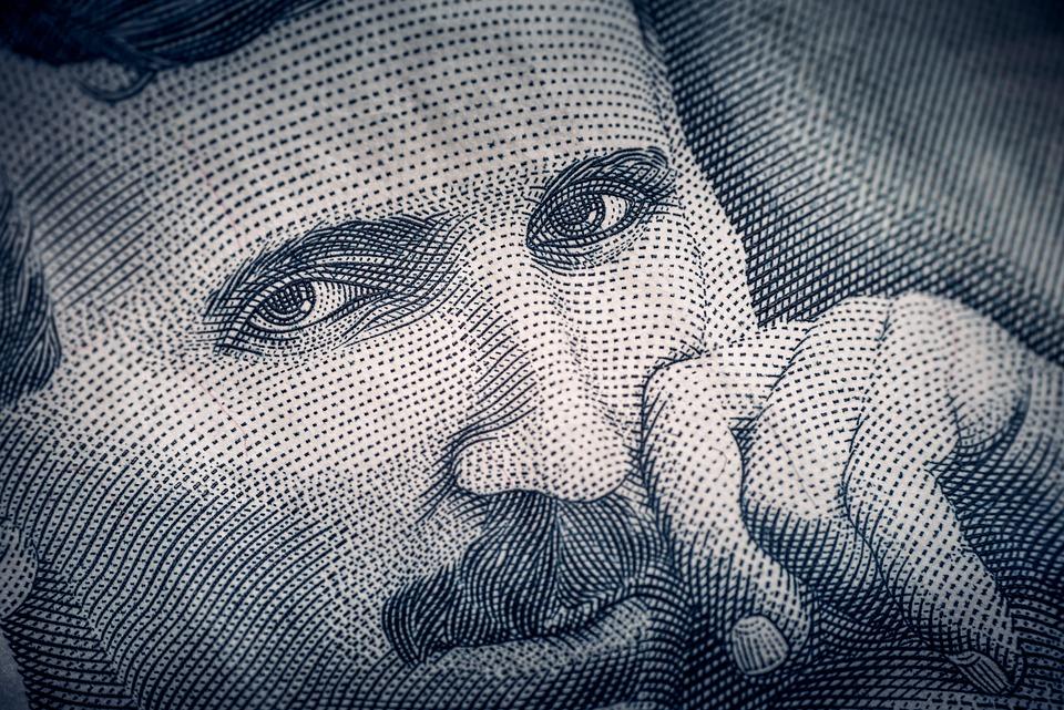 Nikola Tesla, Obverse, Serbian Dinar, Banknote, Nikola