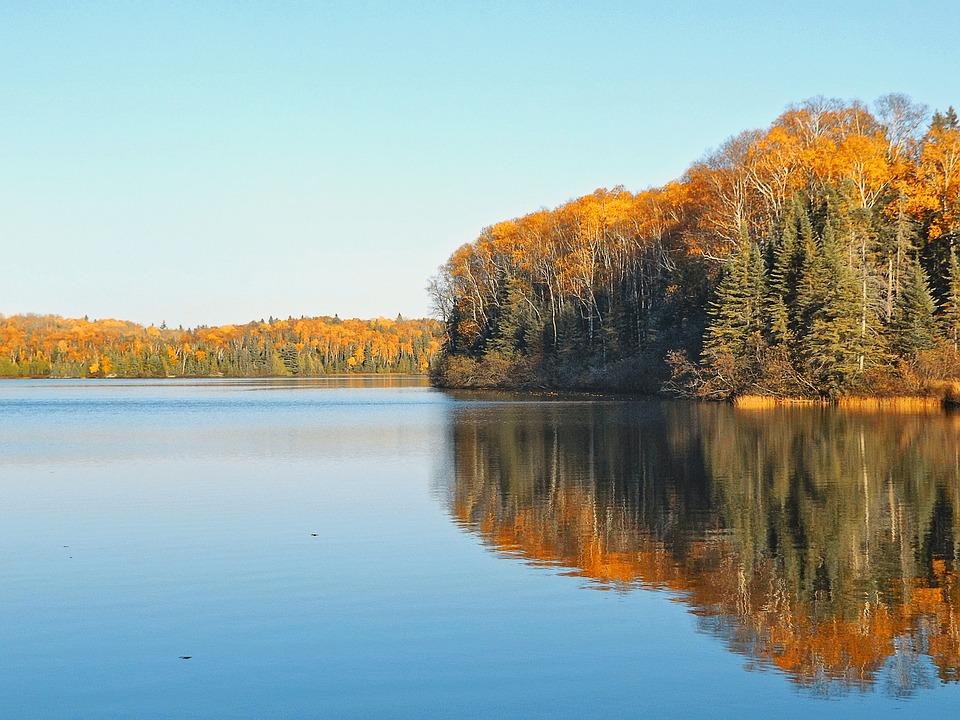Autumn, Lake, Serene, Tranquility, Landscape, Nature