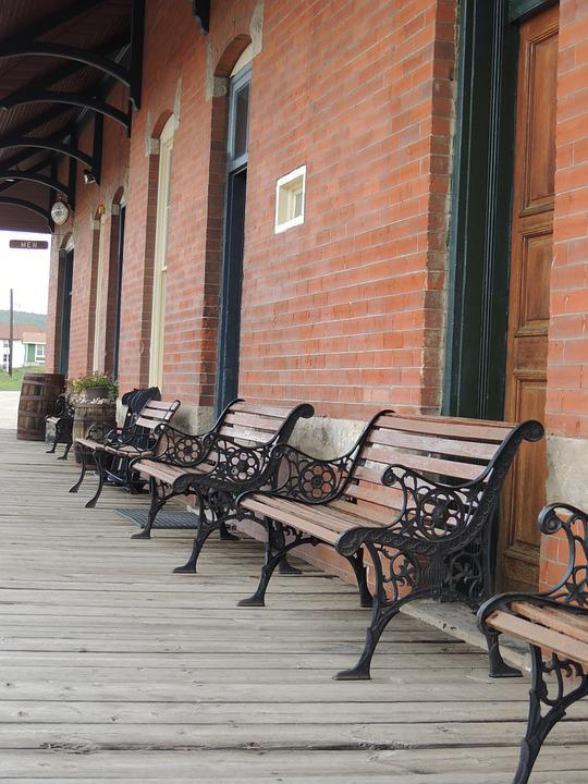 Tranquil, Train Station, Vacation, Serene, Quiet, Bench