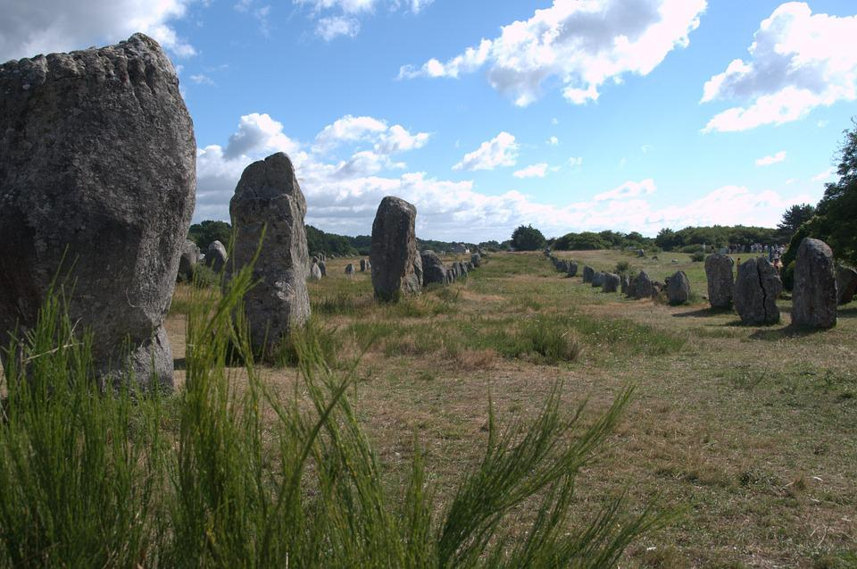 Megaliths, Menhirs, France, Series, Summer, Stones
