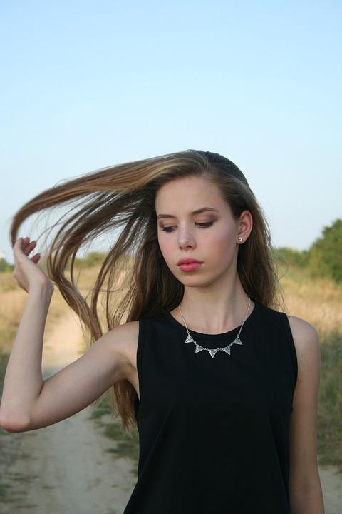 Long Hair, Girl, Beauty, Seriousness