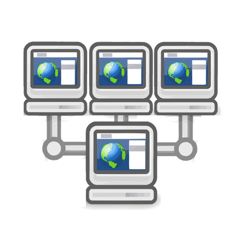 Network, Workstations, Server, Connected, Information
