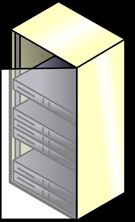Server Rack, Servers, Mount, Electronics, Cabinet