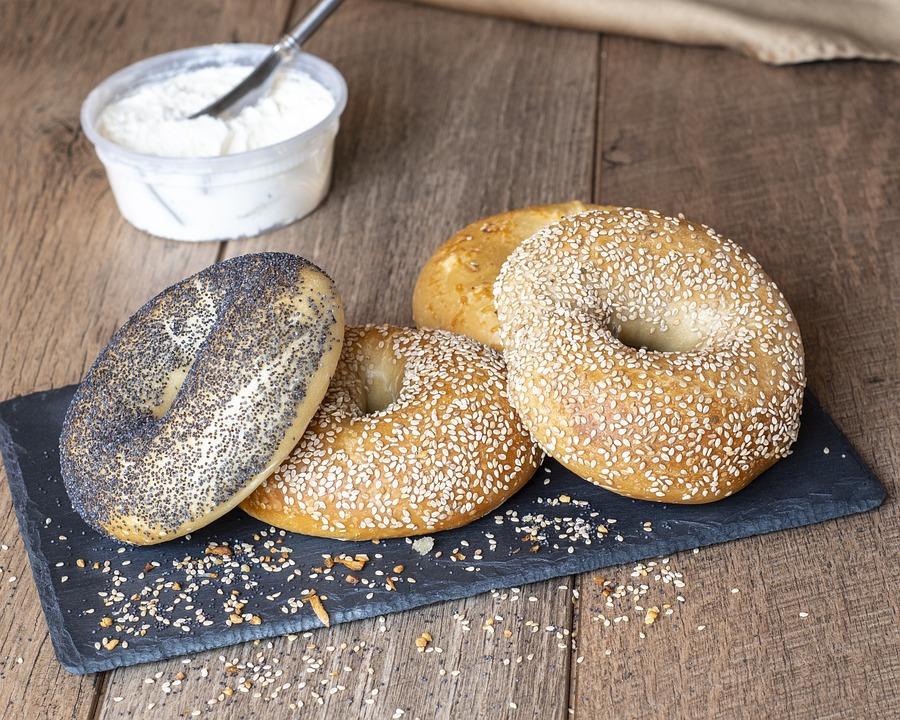 Bagels, Food, Breakfast, Sesame, Snack, Brunch