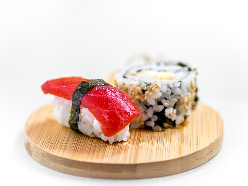 Sushi, Sashimi, Tuna, Sesame, Rice, Japan, Food, Asia