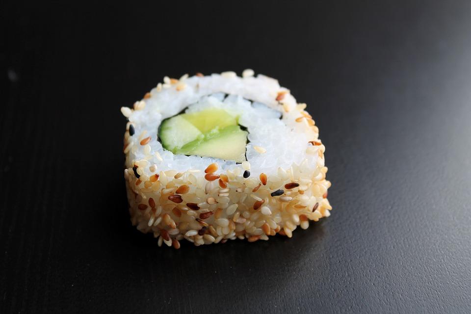 Sushi, Inside Out, Role, Sesame, Japanese, Japan