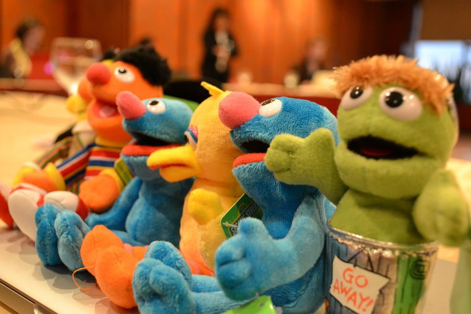 Dolls, Plush Toys, Muppets, Sessame Street