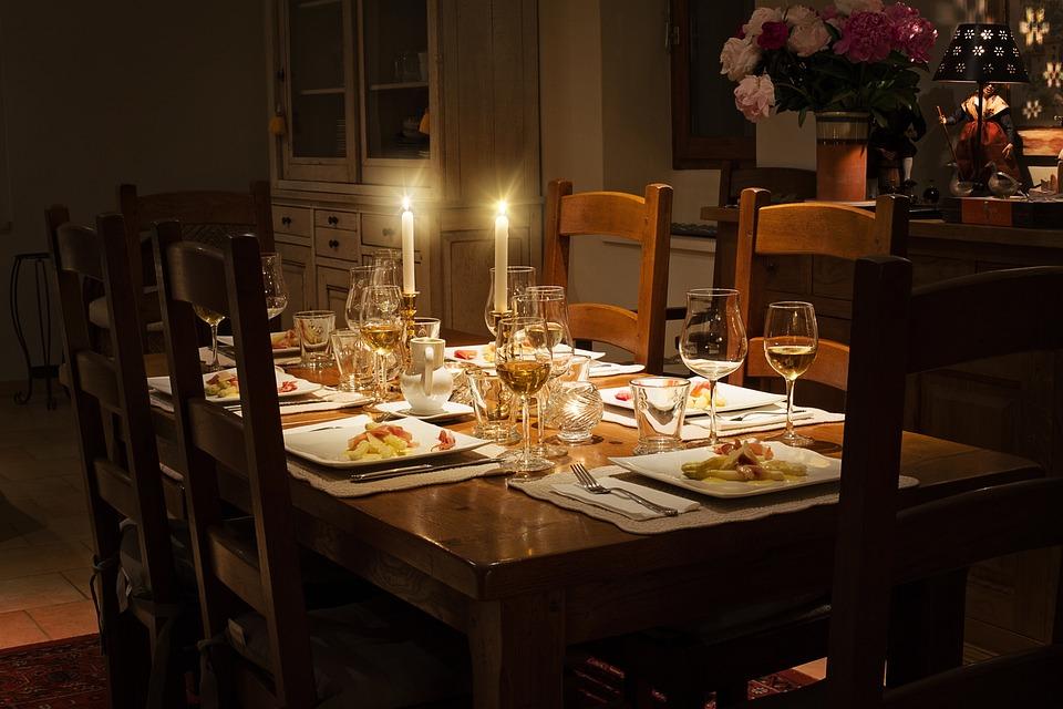 Dinner, Table, Home, Setting, Celebration, Elegant