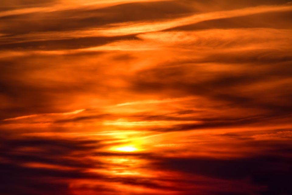Sunset, Setting Sun, Sun, Evening Sky, Abendstimmung