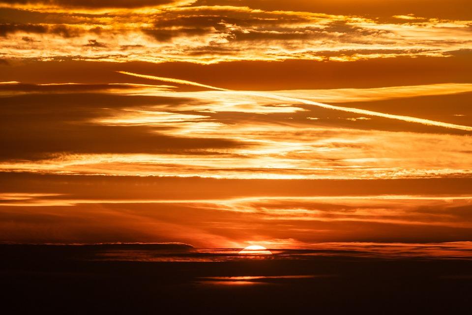 Setting Sun, Sunset, Sky, Abendstimmung, Evening Sky