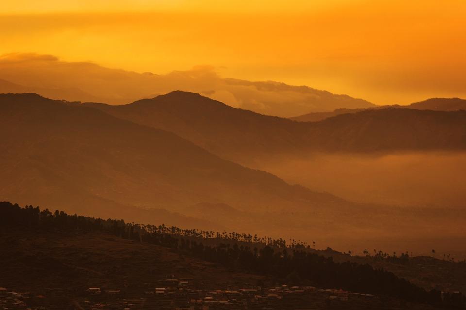Sunset, Golden Hour, Setting Sun, Clouds