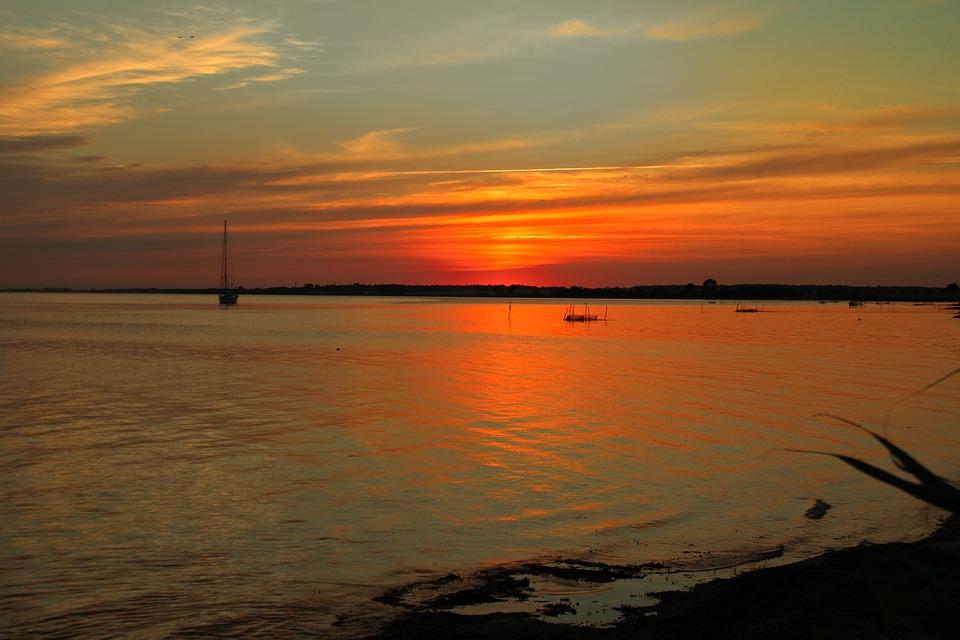 Sunset, Air, Setting Sun, Colorful Sunset, Horizon