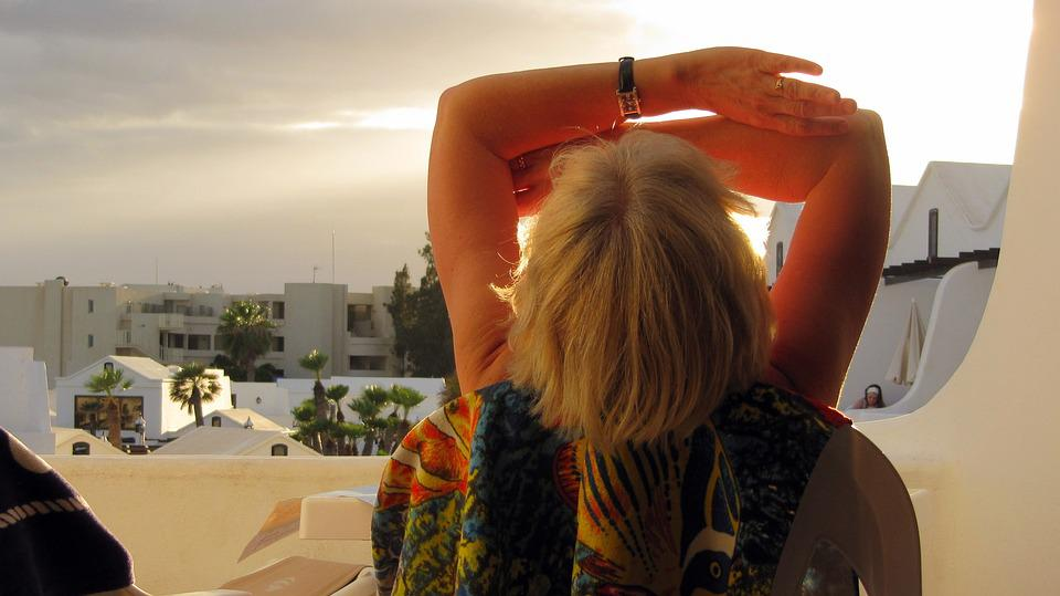 Lanzarote, Sun, Vacations, Woman, Mood, Setting Sun