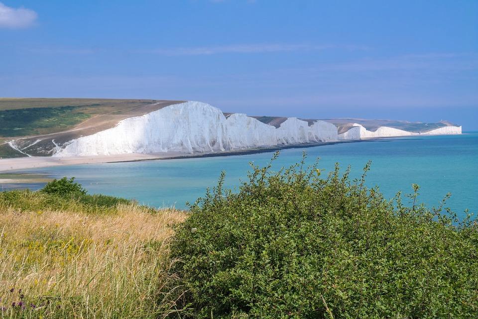 Seven Sisters, Sussex, England, White Cliffs, Cliffs