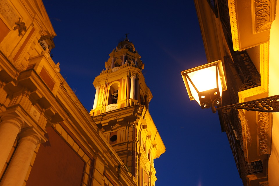 Seville, Night, Old Town, Lantern, Romantic
