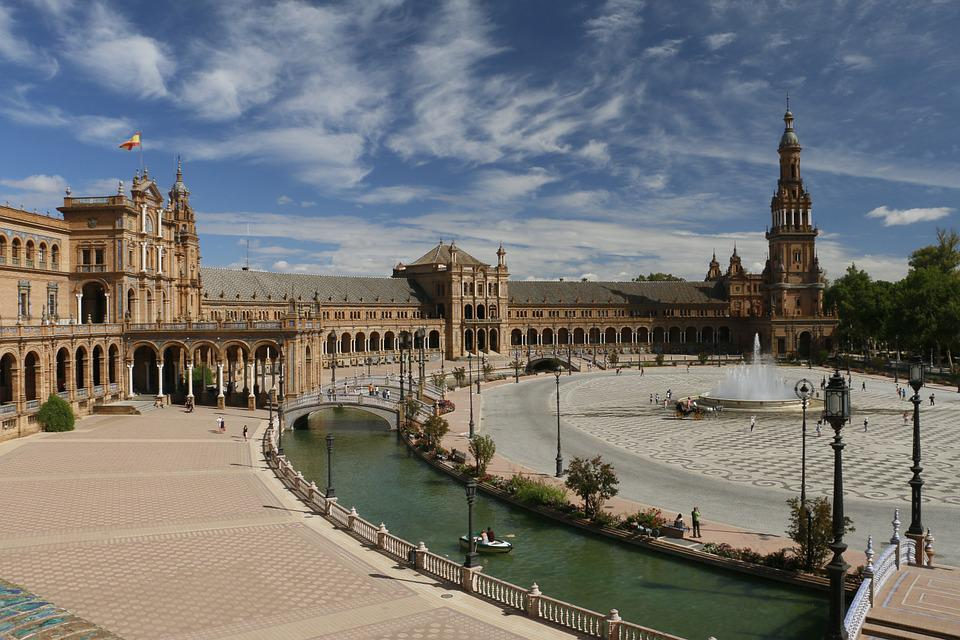 Spain Square, Seville, Spain, Andalusia, Architecture