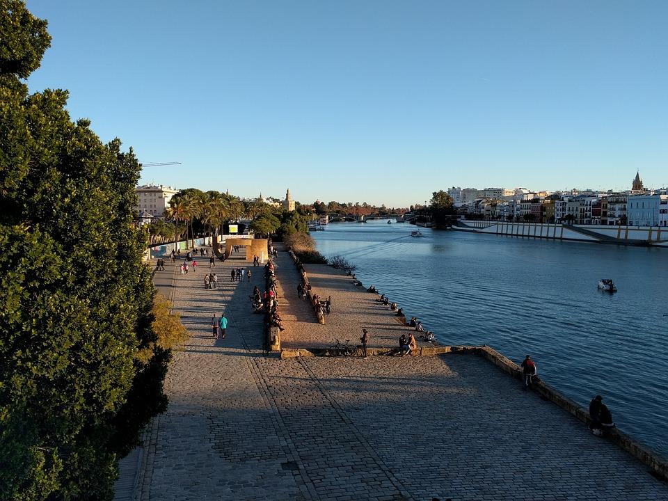 Seville, Guadalquivir, River, Andalusia, Spain, Tower