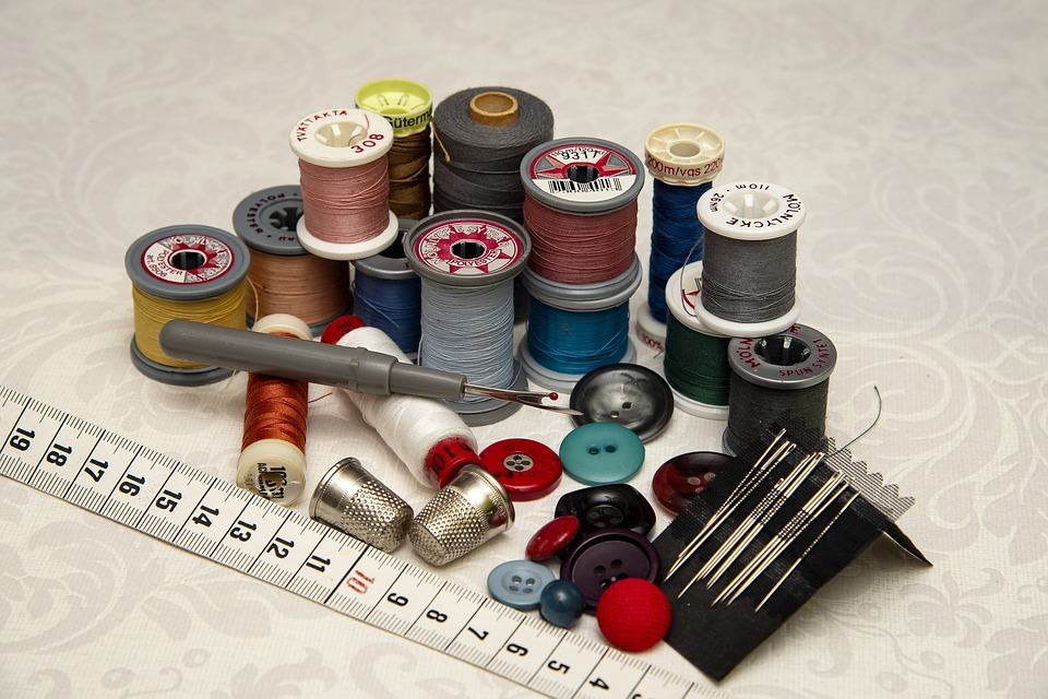 Thread, Needle, Buttons, Crafts, Sewing Needles