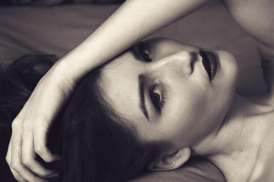 Woman, Sexy, Portrait, Hand On Face, Retro, Gorgeous