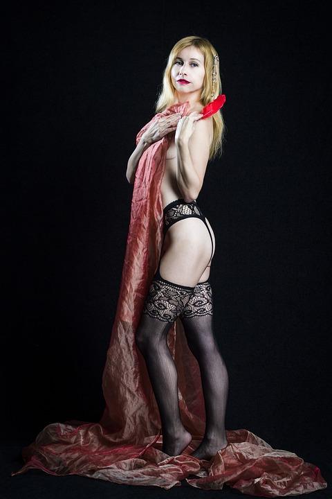 Erotica, Stockings, Fabric, Naked, Sexy, Sex, Nude