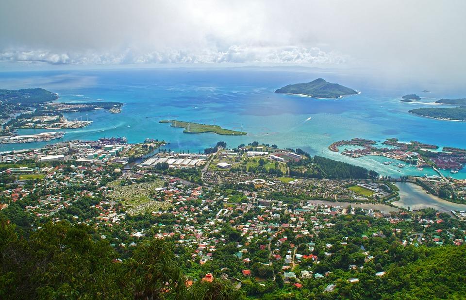 Seychelles, Victoria, Mahé, Island, Landscape, Sea