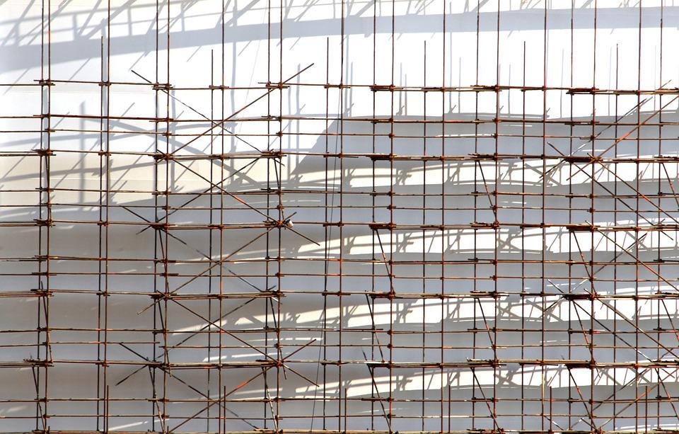 Building, Work, Scaffolding, Shading