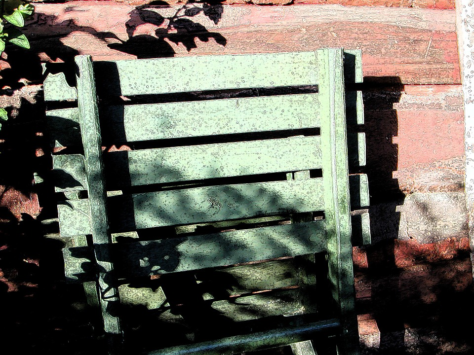 Chair, Wood, Shading, Old, Rest, Autumn, Garden
