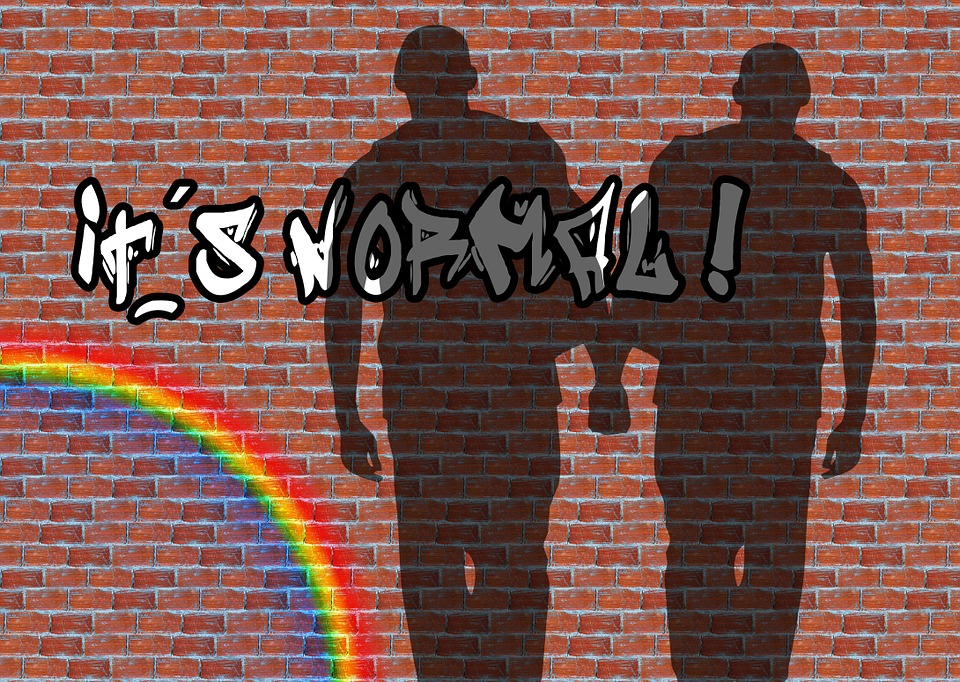 Wall, Shadow, Graffity, Rainbow, Man, Homosexuality