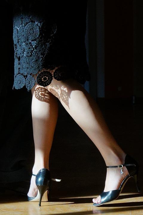 Legs, Woman, Rock, Shadow, Heel Shoes, Tango Shoes