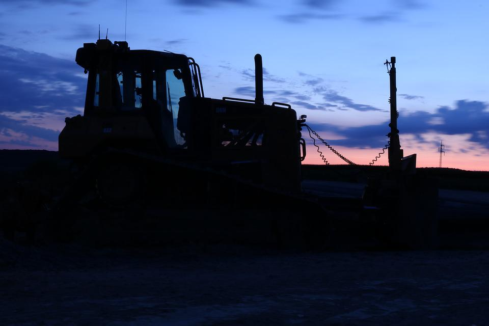 Construction Machine, Darkness, Shadow, Mystical, Night