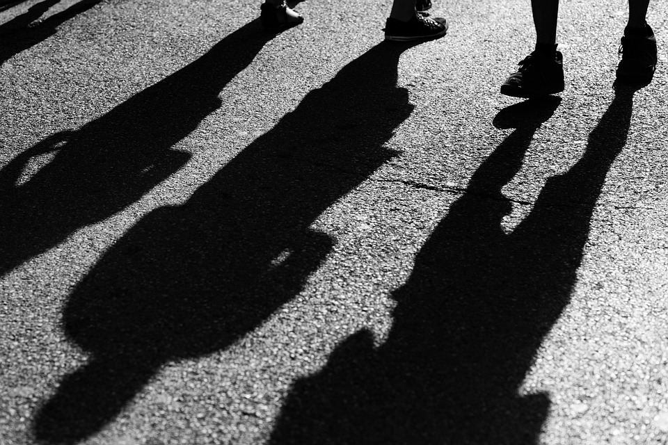 Road, Black, Shadow, Black And White, Observed, Go